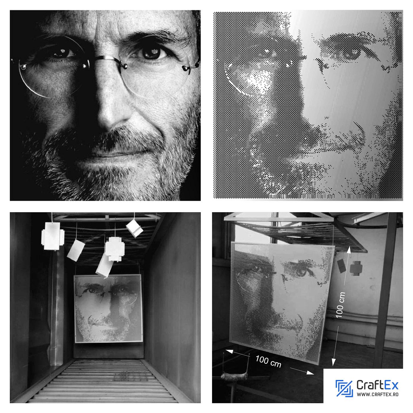 www.craftex.ro - Portrete - Steve Jobs